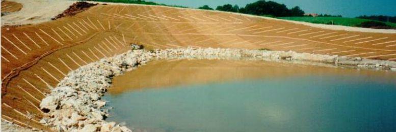 Geotextilschutz für Gewässer